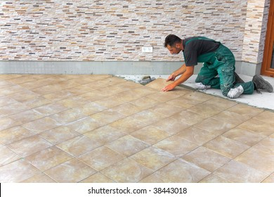 Floor Tile Installation Images, Stock Photos & Vectors
