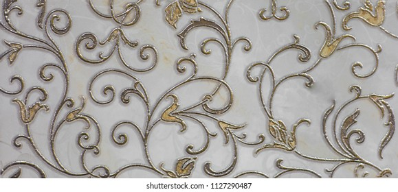 floor tiles, kitchen pattern with abstract ornament