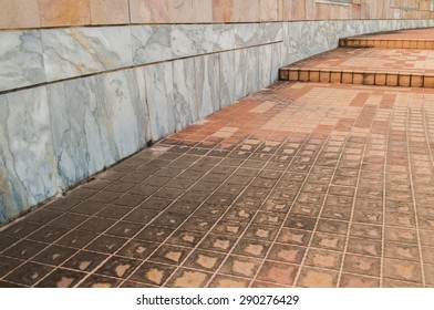 Floor and Wall in house, decorated with stone