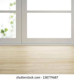 Floor and window