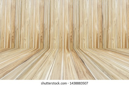 Floor and wooden brown wall interior decoration, with natural patterns, with beautiful surface textures and patterns, for background or decorative, advertising and product display, with copy space
