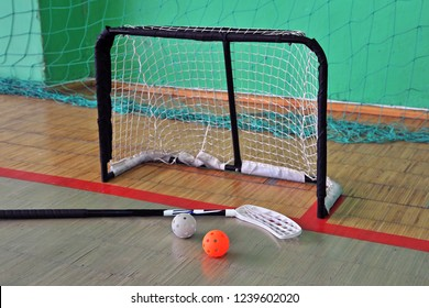 Floorball - stick , balls and gates