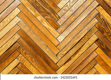 Floorboard as a creative background. Texture of wooden floorboard closeup. Boardwalk wooden background