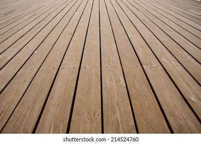 flooring planks on the pier