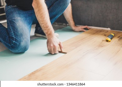 Flooring technology - laying of a floating laminate floor - eco-friendly finishing material