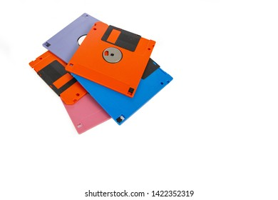 A floppy disk , also called a floppy, diskette , or just disk were a ubiquitous form of data storage isolated on white background copy space.