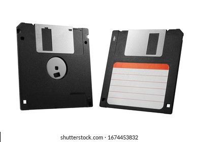 Floppy Disk Disc Diskette Retro Isolated On White Background