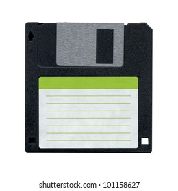 Floppy Disk magnetic computer data storage support