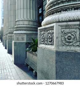 Flora between the columns