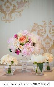 floral arrangement on the table