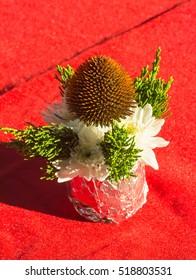 Floral arrangement for special ceremony.