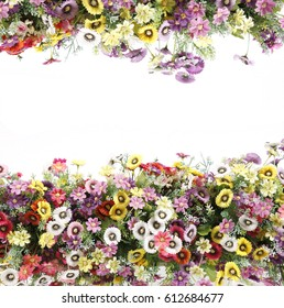 Floral background colorful compositionon white