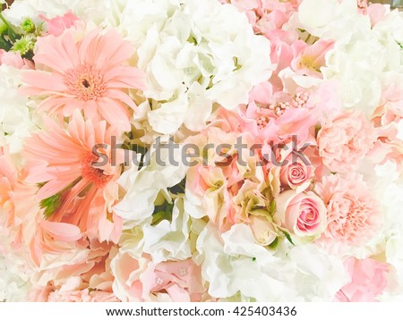 Floral Background Pink Flowers Soft Light Stock Photo Edit Now