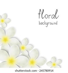 Floral background with place for text