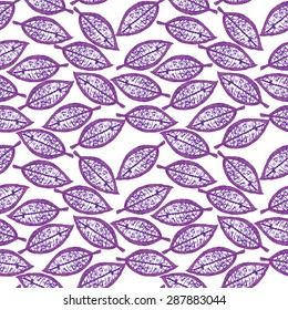 Floral background. Watercolor pattern.Leaf pattern.