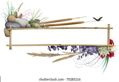 Floral Banner Frame