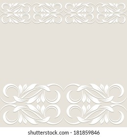 Floral border. Abstract flower background. Raster version of vector.