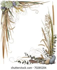Floral Border Frame 1