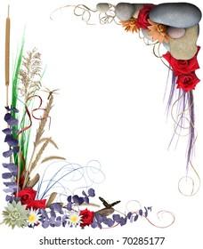 Floral Border Frame 2