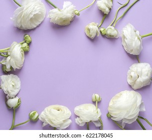 Floral composition with flower background