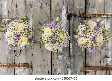 Floral compositions for the wedding day