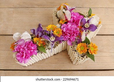 Floral decoration in cross shape - step by step, tutorial
