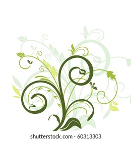 Floral decorative background for holiday's card - raster