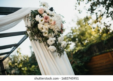 Floral garden decoration for a special day.  A party in nature