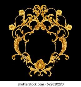 Floral golden arabesque