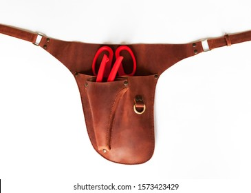 Floral holster with tools on a white background