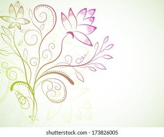 floral nature background concept. illustration