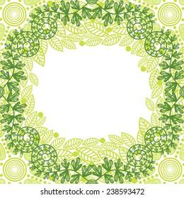 Floral nature pattern background illustration