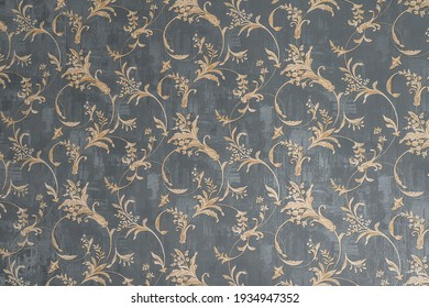 Floral old retro vintage ornament wallpaper on background. Cute ornament floral pattern. Background wall design. Vintage wallpaper - Shutterstock ID 1934947352