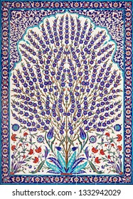 Floral ornament in arabic style.