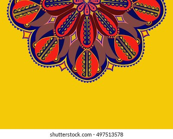 the floral ornament.  can be used for printing onto fabric