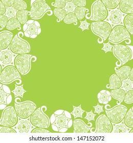 Floral pattern background illustration