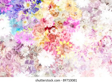 floral pattern (mixed color)