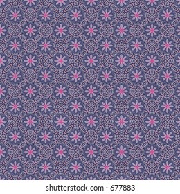 Floral pattern on op art background