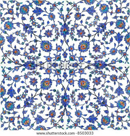 Floral Pattern On Turkish Tiles Found Stock Photo Edit Now 60 Extraordinary Turkish Pattern