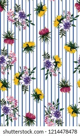 floral pattern seamless, spring
