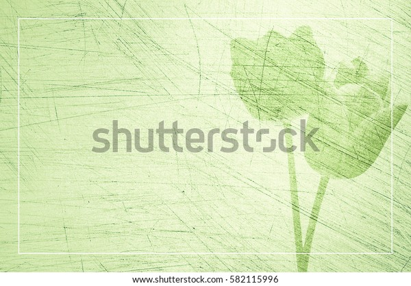 floral textured light green worktop scratched surface - copy space