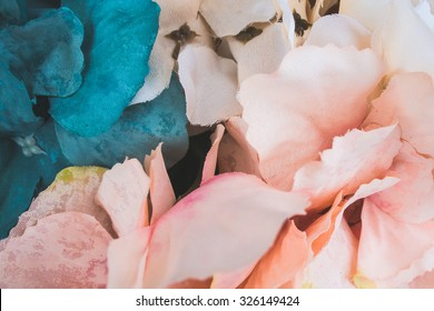 Floral wallpaper, background from flower petals