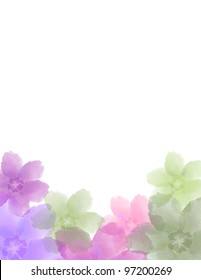 Floral Watercolor Announcement for Wedding or Birthday, or special occasion.