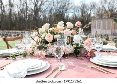floral wedding reception table centerpieces