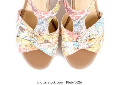 17878609b White Wedge Sandals Cork Images, Stock Photos & Vectors   Shutterstock
