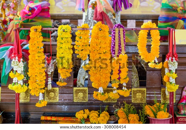 Floral work and joss stick as sacrificial offering