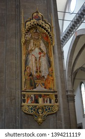 Florance, Italy 06.15.2015: Inside the Duomo in Florence (Cathedral of Santa Maria del Fiore)