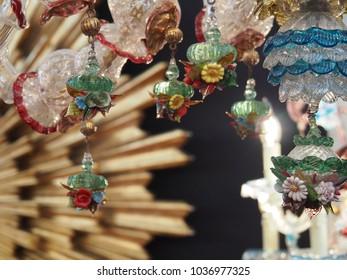 floreal cristl glass venetian pendants