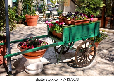 floreal handcart in the garden