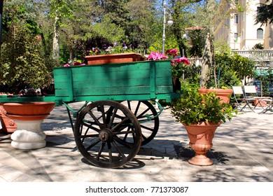 floreal handcart in the garden